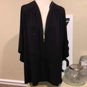 Michael Kors Plus Size Black elegant blouse 1x